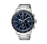 שעון כרונוגרף לגבר עשוי פלדת אל חלד ועמיד במים-CITIZEN