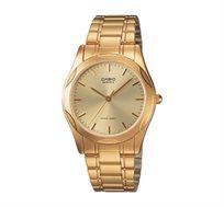 שעון יד אנלוגי רצועת מתכת יוקרתית - זהב