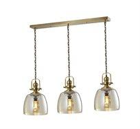 מנורת תליה בעלת 3 גופי תאורה ברקלי ביתילי