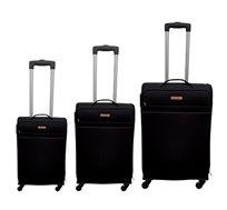 סט מזוודות בד 3 גדלים Carany בשני צבעים לבחירה