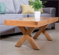שולחן מעץ פורניר אלון מבוקע דגם טריגו VITORIO DIVANI