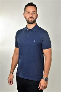חולצת פולו POLO RALPH LAUREN SLIM FIT לגבר בצבע כחול