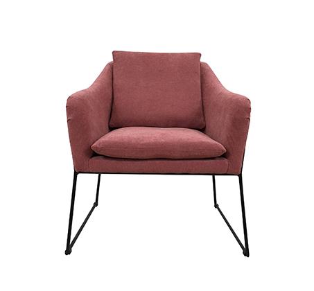 כורסת בד בעיצוב מודרני ומינימליסטי בצבע אפור דגם מון RICO BRAND  - משלוח חינם - תמונה 4