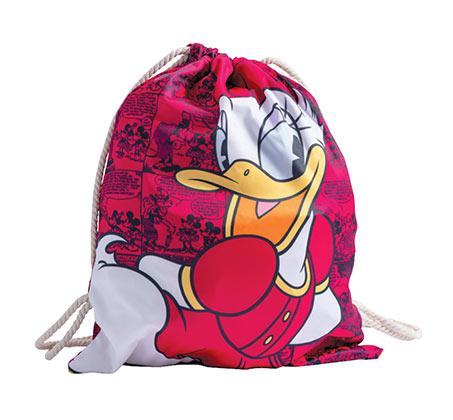 תיק שרוך דייזי דאק לילדות - ורוד +כובע מתנה