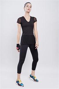 חולצת ספורט Glam בצבע שחור