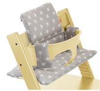 כרית ריפוד ועיצוב לכיסא אוכל טריפ טראפ 100% כותנה - אפור/כוכבים