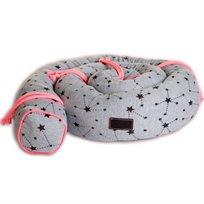 Babymitmit  כרית נחשוש- אפור ורוד Funny Numbers Collection