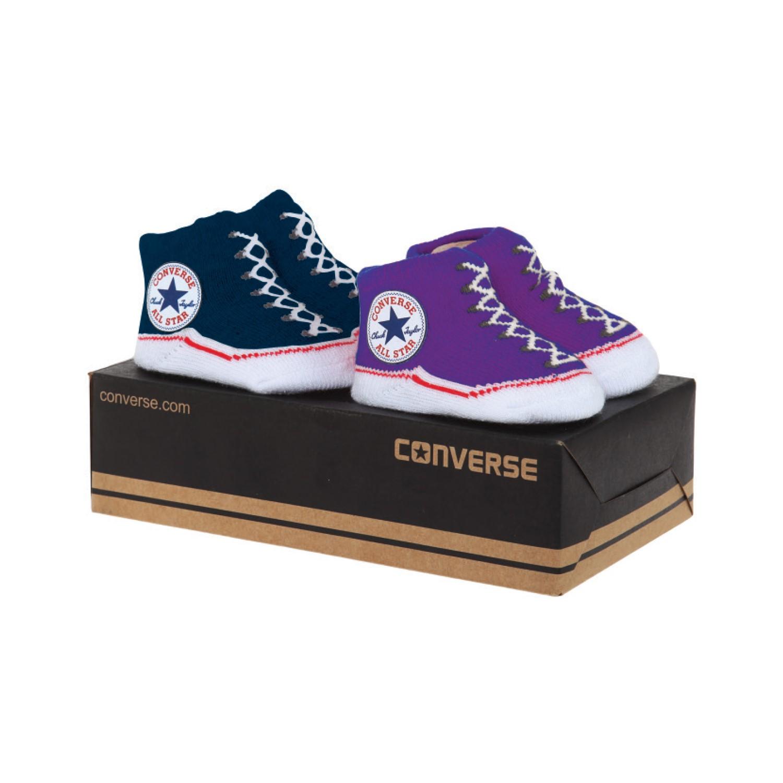 Converse תינוקות//  מארז גרביים תינוקות נייבי/סגול