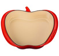 תבנית בצורת תפוח לטארט טאטן 25 סמ עשויה ברזל יצוק בציפוי אמייל  + סט מגנטים מתנה