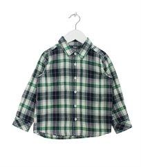 חולצת פלנל עם כפתורי עץ