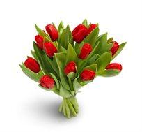 לרגעים הכי יפים! זר טוליפים אדומים, זר חורפי שמחמם את הלב עם טוליפים, מתאים לכל אירוע