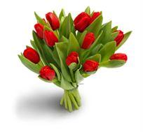 לרגעים הכי יפים! זר טוליפים אדומים, זר חורפי שמחמם את הלב עם טוליפים, מתאים לכל אירוע - משלוח חינם!