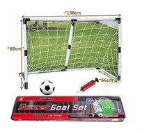 שער כדורגל 1.58 מ' + כדור כדורגל ומשאבה מתנה