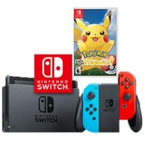 Nintendo Switch נינטנדו סוויץ' חבילת פיקצ'ו