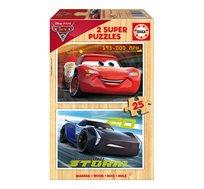 משחק הרכבה הכולל 2 פאזלים מעץ 25 חלקים בדגמי CARS 3