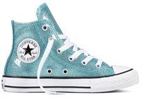 נעלי אולסטאר לילדים גבוהות עם נצנצים - All Star