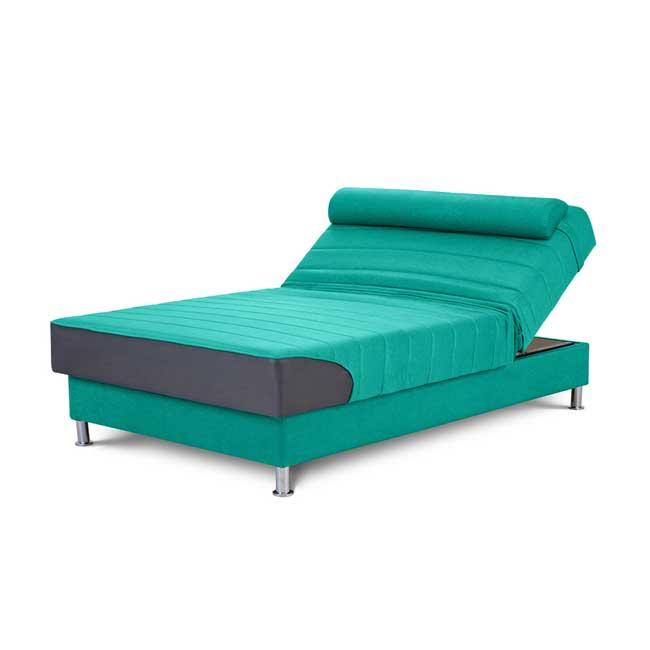 מיטה וחצי אורטופדית עם ארגז מצעים ומנגנון הרמה ידני וכרית ראש מתנה במגוון צבעים לבחירה