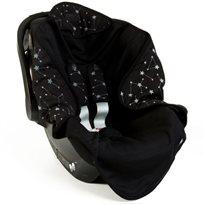Babymitmit סט מפנק לסלקל- עיטופית וחבקים שחור - Galaxy Collection