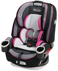 כיסא בטיחות משולב בוסטר 4 ב 1 4Ever - שחור/ורוד