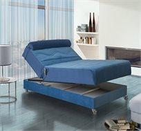 מיטה וחצי אורתופדית חשמלית מעוצבת בעלת בד יוקרתי במיוחד דגם אופיר LEONARDO