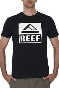 חולצת טי שרט Reef גזרת Slim לגברים בצבע שחור