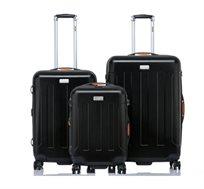 סט 3 מזוודות בגדלים שונים JEEP MIAMI בצבע שחור