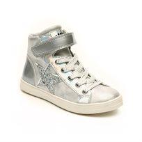 Candy Mid Cut Sneak - נעלי סניקרס כסופות בעיטור כוכב מנצנץ