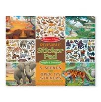 חוברת מדבקות ג'ונגל & סוואנה - Melissa & Doug