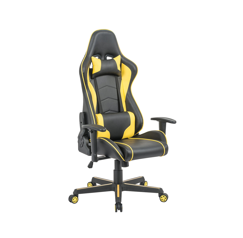 כיסא פרו-גיימר נוח לישיבה ממושכת בעל משענת גב נוחה וגבוהה במיוחד לבית או למשרד HOMAX - תמונה 2