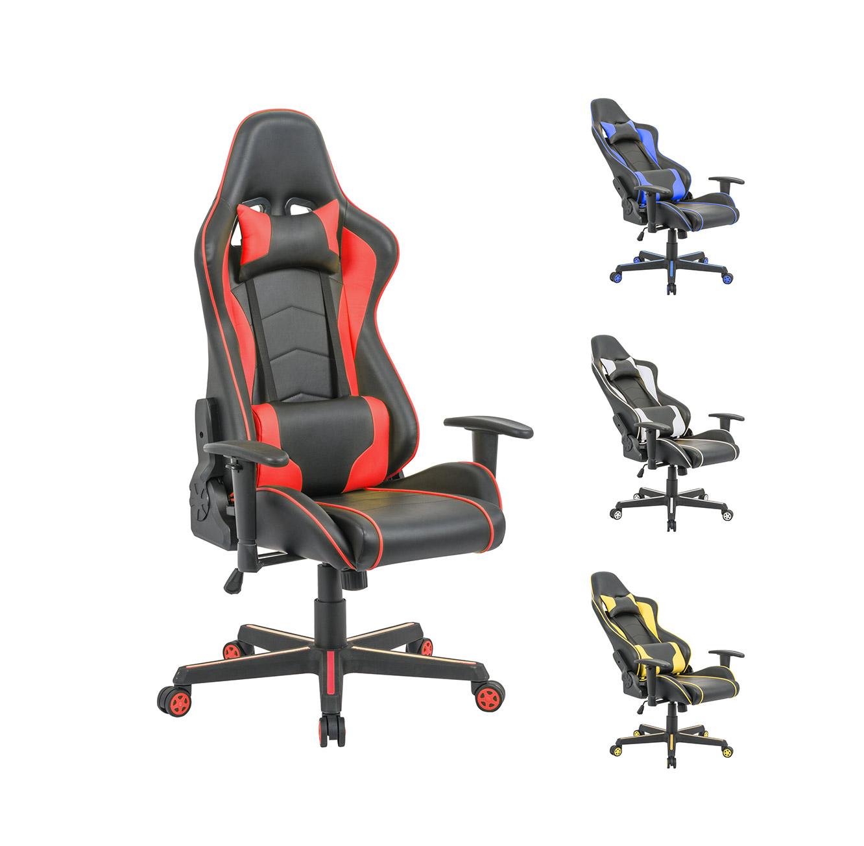 כיסא פרו-גיימר נוח לישיבה ממושכת בעל משענת גב נוחה וגבוהה במיוחד לבית או למשרד HOMAX - תמונה 6