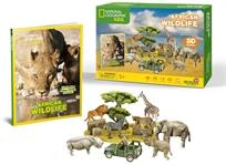 פאזל תלת מימד - חיות הבר של אפריקה National Geographic
