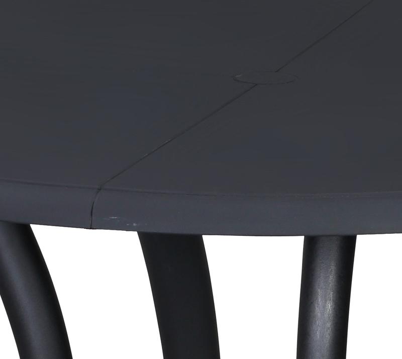 שולחן אוכל דגם א סנטי 100 ביתילי עשוי מפלסטיק עגול בצבע שחור - תמונה 3