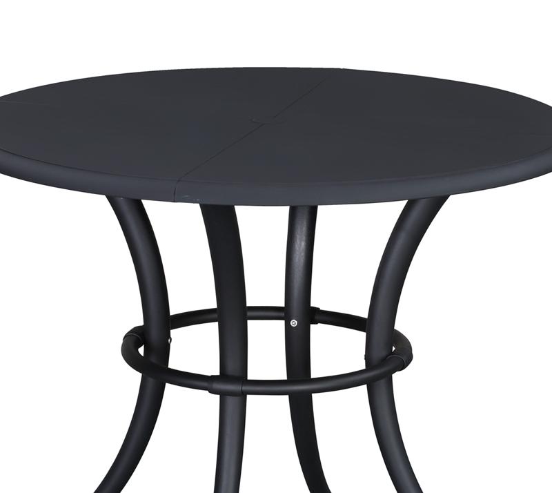 שולחן אוכל דגם א סנטי 100 ביתילי עשוי מפלסטיק עגול בצבע שחור - תמונה 4