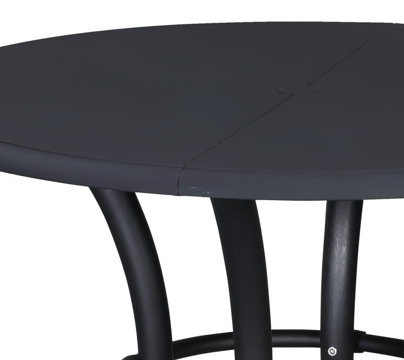שולחן אוכל דגם א סנטי 100 ביתילי עשוי מפלסטיק עגול בצבע שחור - תמונה 2
