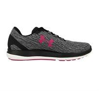 נעלי ספורט לנשים Under Armour Remix בצבעי שחור אפור ורוד טרופי