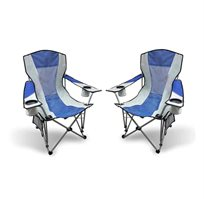 זוג כיסאות קמפינג מתקפלים הכוללים תיק נשיאה וידית אחיזה