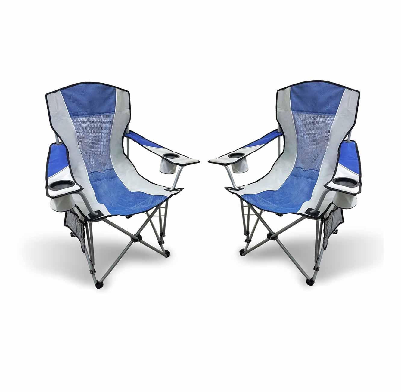 זוג כיסאות מתקפלים לקמפינג