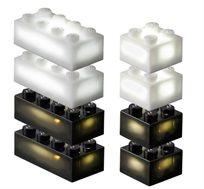 24 קוביות תוספת למשחק שחור-לבן LIGHT STAX, תואם גודל קוביות LEGO - משלוח חינם!