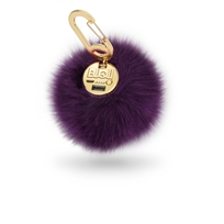 Buqu// Power Poof- Purse Charm Power Bank Plum מטען נייד