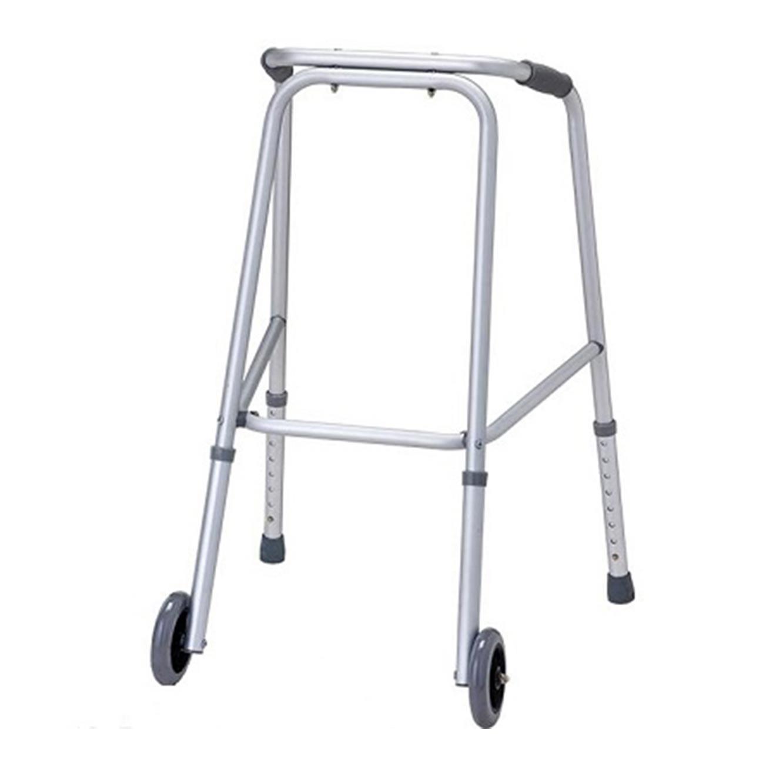 הליכון קבוע קל משקל בעל גלגלים עשוי אלומיניום