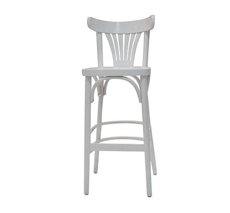 כסא בר מעץ מרופד לשימוש בכל חדרי הבית דגם מניפה