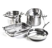 כלי בישול מנירוסטה מנירוסטה Arcosteel לשימוש בכל סוגי הכיריים כולל תנור