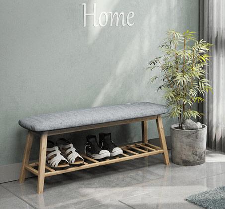 ספסל כניסה במראה מודרני עם משטח תחתון לנעליים דגם הדר