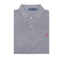 חולצת פולו שרוול קצר לגבר POLO RALPH LAUREN מידות גדולות בצבע אפור