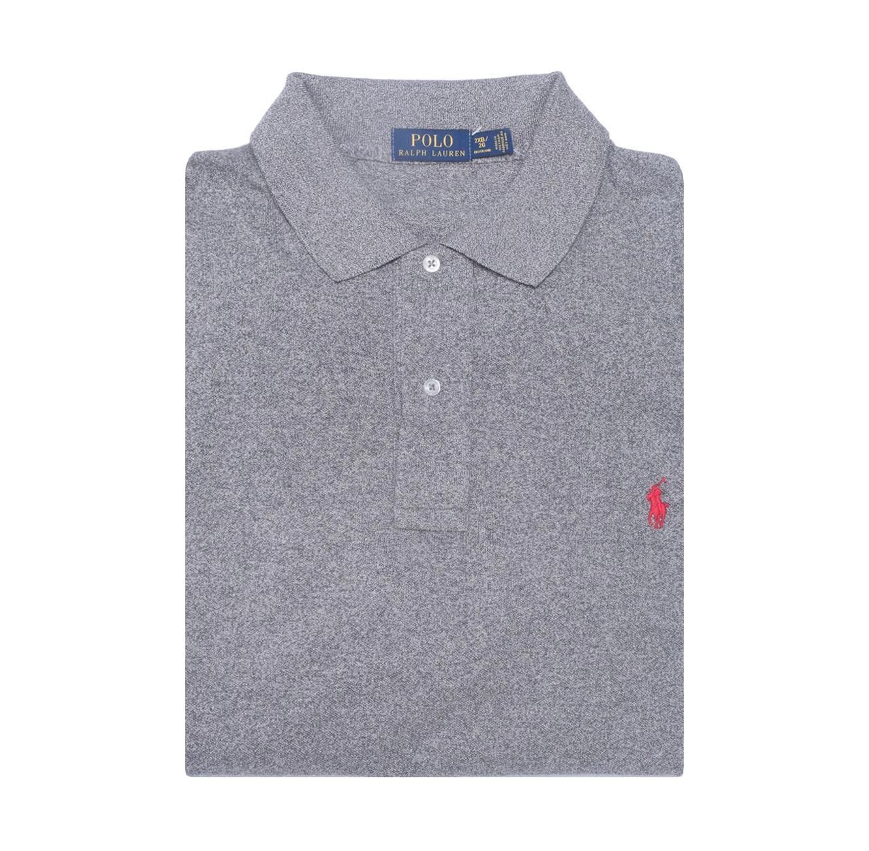 חולצת פולו POLO RALPH LAUREN מידות גדולות - אפור