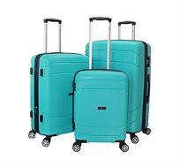 סט 3 מזוודות קשיחות Swiss דגם Arizona בעלות תא מרכזי