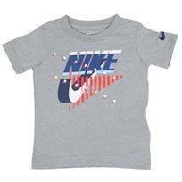 חולצה נייקי קצרה אפורה לפעוטות - Nike Icon Grey Tee