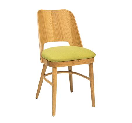 כסא מטבח מעץ כולל ריפוד מושב דגם איתי
