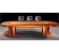 שולחן מפואר לחדר ישיבות עשוי Mdf מצופה פורניר אמיתי דגם 2983
