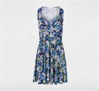 שמלה פרחונית קצרה MORGAN - כחול
